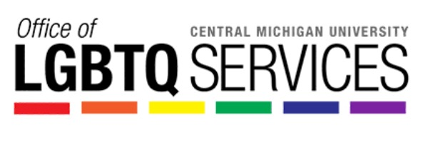 Central Michigan University's Office of Lesbian, Gay, Bisexual, Transgender and Queer Services Logo