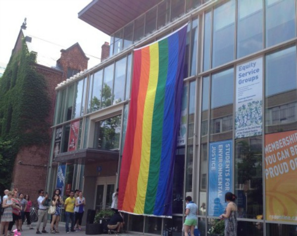Ryerson Student Union, Raising PRIDE flag Event, June 2013